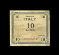 Military Payment Certificates:Series 461, Italy 10 Lire Star Note 1943 Pick M13b Schwan-Boling 107....