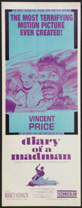 """Movie Posters:Horror, Diary of a Madman (United Artists, 1963). Insert (14"""" X 36"""").Horror.. ..."""