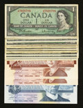 Canadian Currency: , Canada Very Good or Better.. ... (Total: 13 notes)