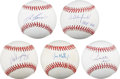 Autographs:Baseballs, Superstars of the 1980's and 1990's Single Signed Baseballs Lot of5. ... (Total: 5 items)