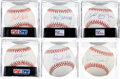 Autographs:Baseballs, Star and Hall of Fame Pitchers Single-Signed Baseballs Lot of 6....(Total: 6 items)