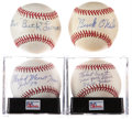 Autographs:Baseballs, Negro League Single-Signed Baseballs Lot of 4.... (Total: 4 card)