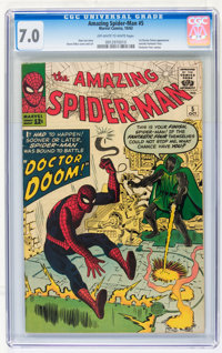The Amazing Spider-Man #5 (Marvel, 1963) CGC FN/VF 7.0 Off-white to white pages