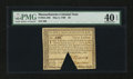 Colonial Notes:Massachusetts, Massachusetts May 5, 1780 $3 PMG Extremely Fine 40 EPQ....