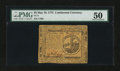 Colonial Notes:Continental Congress Issues, Continental Currency May 10, 1775 $2 PMG About Uncirculated 50....