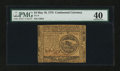 Colonial Notes:Continental Congress Issues, Continental Currency May 10, 1775 $4 PMG Extremely Fine 40....