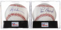 Autographs:Baseballs, Rickey Henderson and Lou Brock Single Signed Baseball PSA Mint+ 9.5Lot of 2. ... (Total: 2 items)