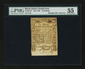Colonial Notes:Rhode Island, Rhode Island May 1786 10s PMG About Uncirculated 55....