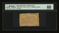 Colonial Notes:Massachusetts, Massachusetts June 18, 1776 2s6d PMG Extremely Fine 40....