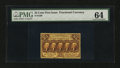 Fractional Currency:First Issue, Fr. 1280 25¢ First Issue PMG Choice Uncirculated 64....