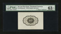 Fractional Currency:First Issue, Fr. 1243SP 10¢ First Issue Proof PMG Choice Uncirculated 63 EPQ....