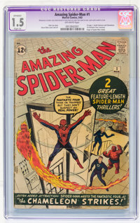 The Amazing Spider-Man #1 (Marvel, 1963) CGC Apparent FR/GD 1.5 Slight (A) Off-white pages
