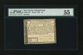 Colonial Notes:New Jersey, New Jersey June 9, 1780 $4 PMG About Uncirculated 55....