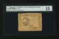 Colonial Notes:Continental Congress Issues, Continental Currency April 11, 1778 $6 PMG Choice Fine 15....