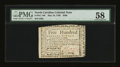 Colonial Notes:North Carolina, North Carolina May 10, 1780 $500 PMG Choice About Unc 58....