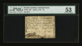 Colonial Notes:North Carolina, North Carolina April 2, 1776 $3 Alligator and Beaver PMG AboutUncirculated 53....