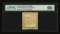Colonial Notes:Pennsylvania, Pennsylvania January 18, 1777 6d Middle-Ferry on Schuylkill PMG GemUncirculated 66 EPQ....