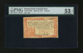 Colonial Notes:Pennsylvania, Pennsylvania April 10, 1777 £4 PMG About Uncirculated 53 EPQ....