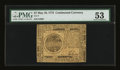Colonial Notes:Continental Congress Issues, Continental Currency May 10, 1775 $7 PMG About Uncirculated 53....
