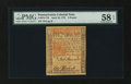 Colonial Notes:Pennsylvania, Pennsylvania April 10, 1775 £5 PMG Choice About Unc 58 EPQ....