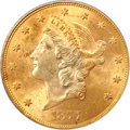 Liberty Double Eagles, 1877-S $20 MS63 PCGS....