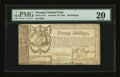 Colonial Notes:Georgia, Georgia October 16, 1786 20s PMG Very Fine 20....