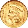 Three Dollar Gold Pieces, 1878 $3 MS66 NGC....