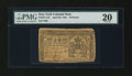 Colonial Notes:New York, New York April 20, 1758 £10 PMG Very Fine 20....
