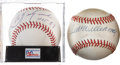 Autographs:Baseballs, Ted Williams and Carl Yastrzemski Single Signed Baseballs Lot of2.... (Total: 2 items)