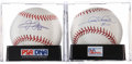 Autographs:Baseballs, Gary Sheffield and Frank Thomas Single Signed PSA-Graded BaseballsLot of 2.... (Total: 2 items)