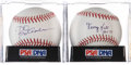 Autographs:Baseballs, George Kell and Rod Carew Single Signed PSA-Graded Baseballs Lot of2.... (Total: 2 items)