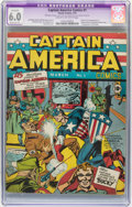 Golden Age (1938-1955):Superhero, Captain America Comics #1 (Timely, 1941) CGC Apparent FN 6.0 Moderate (P) Cream to off-white pages....