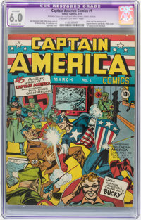 Captain America Comics #1 (Timely, 1941) CGC Apparent FN 6.0 Moderate (P) Cream to off-white pages