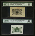 Fractional Currency:Third Issue, Fr. 1227SP 3¢ Third Issue Wide Margin Pair.... (Total: 2 notes)