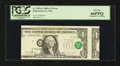 Error Notes:Major Errors, Fr. 1915-G $1 1988A Federal Reserve Note. PCGS Gem New 66PPQ....
