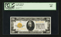 Small Size:Gold Certificates, Fr. 2402 $20 1928 Gold Certificate. PCGS Gem New 65.. ...