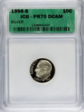 Proof Roosevelt Dimes: , 1996-S 10C Silver PR70 Deep Cameo ICG. NGC Census: (0). PCGSPopulation (63). Numismedia Wsl. Price for problem free NGC/P...