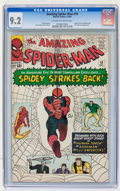 Silver Age (1956-1969):Superhero, The Amazing Spider-Man #19 (Marvel, 1964) CGC NM- 9.2 Off-white to white pages....