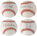 Autographs:Baseballs, Hall of Famer and Star Pitchers Single Signed Baseball Lot of 4....(Total: 4 items)