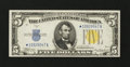 Small Size:World War II Emergency Notes, Fr. 2307* $5 1934A North Africa Silver Certificate. Extremely Fine.. ...