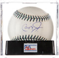 Autographs:Baseballs, Cal Ripken, Jr. Single Signed All-Star Game Baseball, PSA Mint9....