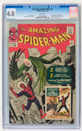 Silver Age (1956-1969):Superhero, The Amazing Spider-Man #2 (Marvel, 1963) CGC VG 4.0 White pages....