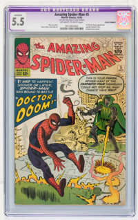 The Amazing Spider-Man #5 (Marvel, 1963) CGC Apparent FN- 5.5 Trimmed