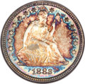 Seated Quarters, 1882 25C MS68 NGC. CAC....