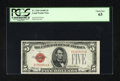 Small Size:Legal Tender Notes, Fr. 1529 $5 1928D Legal Tender Note. PCGS Choice New 63.. Embossing graces this key note for the $5 Legals....