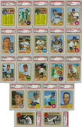 Baseball Cards:Lots, 1968 Topps Baseball PSA Mint 9 Group Lot of 21. Tremendous assortment of 21 graded cards from the 1968 Topps issue, all of ...