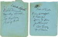 Autographs:Others, 1939 Washington Senators and 1944 Pittsburgh Pirates Team Signed Album Pages Lot of 2.... (Total: 2 items)