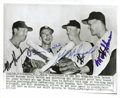 Autographs:Photos, Billy Martin Signed Wire Photo New York Yankees . The AssociatedPress Wire Photo from 1957 a strong and talented infield. ...