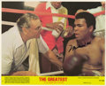 Boxing Collectibles:Autographs, Muhammad Ali Signed Lobby Card. Muhammad Ali penned his signatureto this Lobby Card promoting the 1977 Columbia Pictures m...