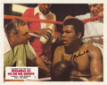 Boxing Collectibles:Autographs, Muhammad Ali Signed Lobby Card -- Germany. Unique lobby card of the German release for the Muhammad Ali biopic The Greate...